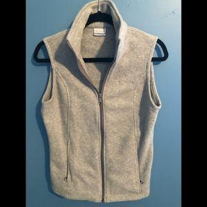Columbia fleece vest.